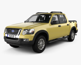 3D model of Ford Explorer Sport Trac 2006