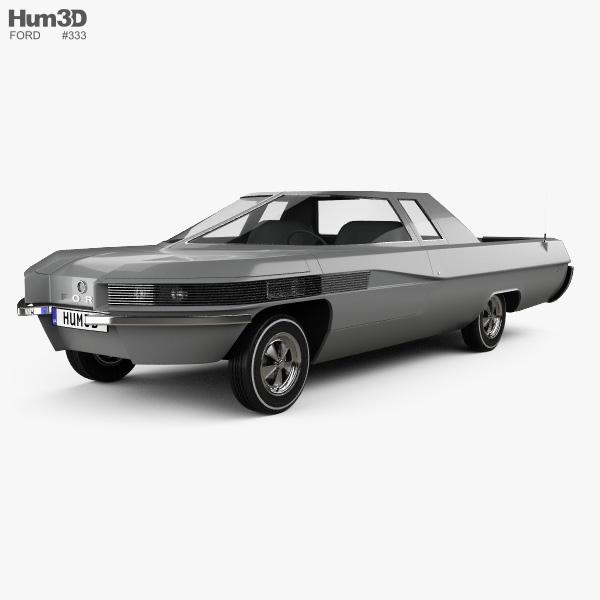 3D model of Ford Ranger II 1966