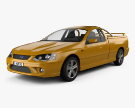3D model of Ford Falcon Ute XR8 2006