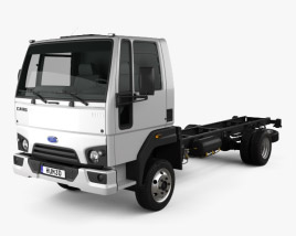 3D model of Ford Cargo (816) Chassis Truck 2013