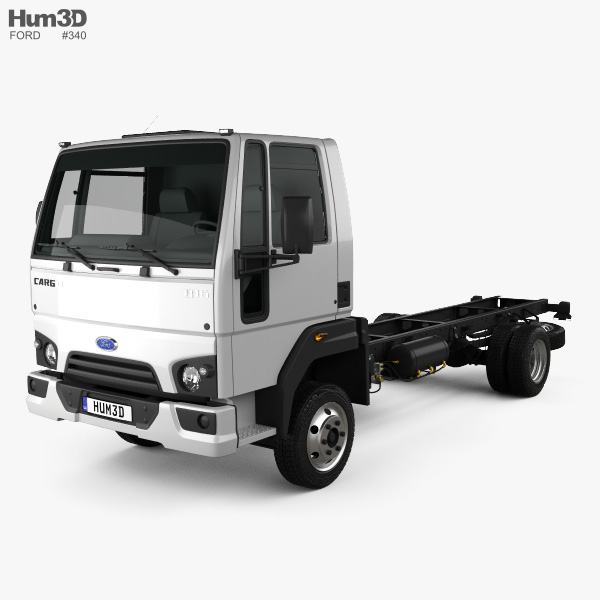 Ford Cargo (816) Chassis Truck 2013 3D model