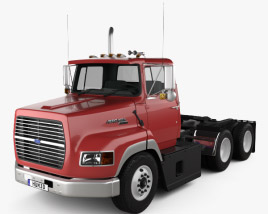 3D model of Ford Aeromax L9000 Day Cab Tractor Truck 1990