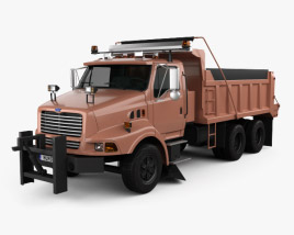 3D model of Ford Louisville Dump Truck 1998