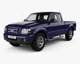 3D model of Ford Ranger (NA) Extended Cab 2008