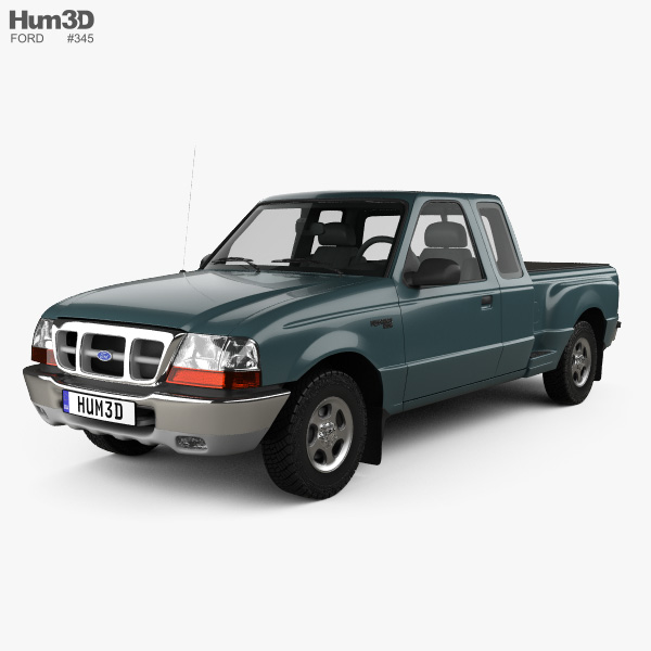 Ford Ranger (NA) Extended Cab Flare Side XLT 1998 3D model
