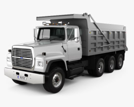 3D model of Ford L9000 Dump Truck 4-axle 1997