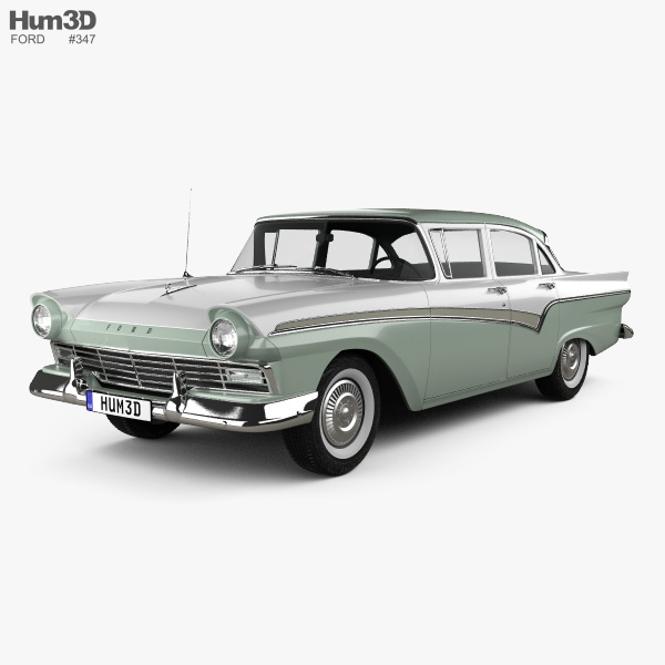 Ford Custom 300 Fordor sedan 1957 3D model