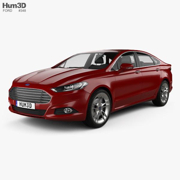Ford Mondeo hatchback 2014 3D model