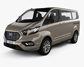 3D model of Ford Tourneo Custom L1 2017