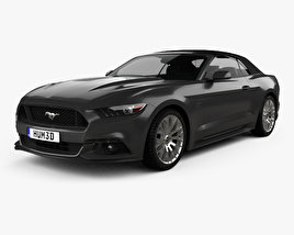 3D model of Ford Mustang GT EU-spec convertible 2015