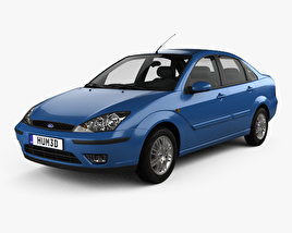 3D model of Ford Focus sedan 2002