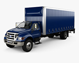 3D model of Ford F-750 Box Truck 2004