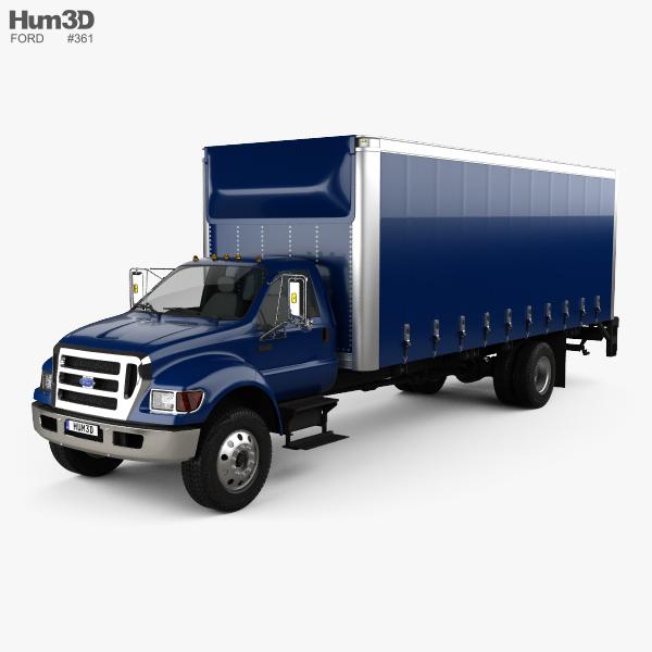 Ford F-750 Box Truck 2004 3D model