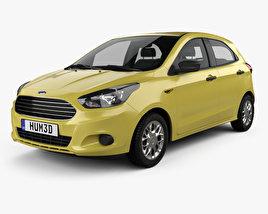 3D model of Ford Figo 2015