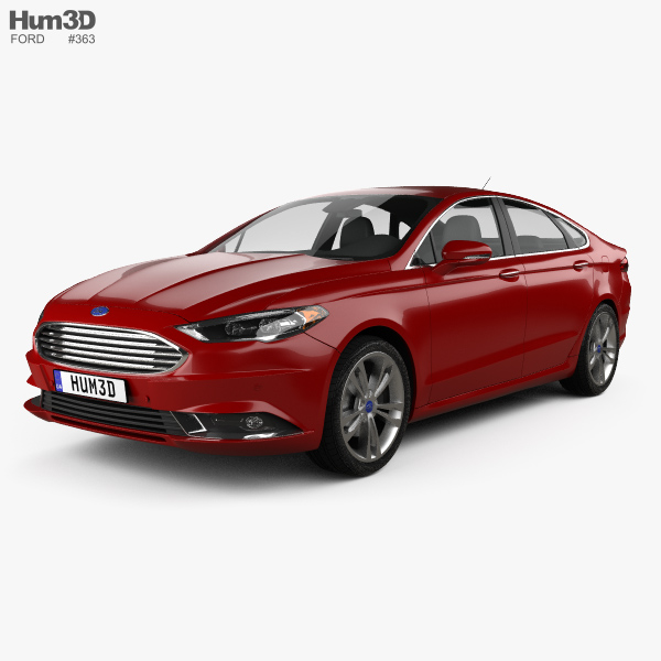 Ford Fusion Titanium 2017 3D-Modell