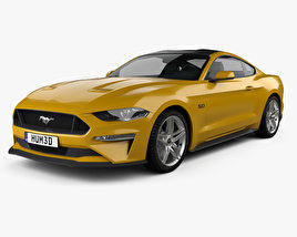 3D model of Ford Mustang GT EU-spec coupe 2018
