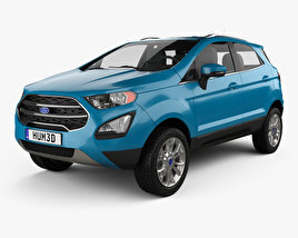 3D model of Ford Ecosport Titanium 2017