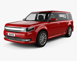 3D model of Ford Flex Limited 2013