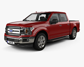 Ford F-150 Super Crew Cab XLT 2017 3D model
