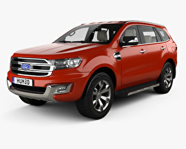 3D model of Ford Everest with HQ interior 2014