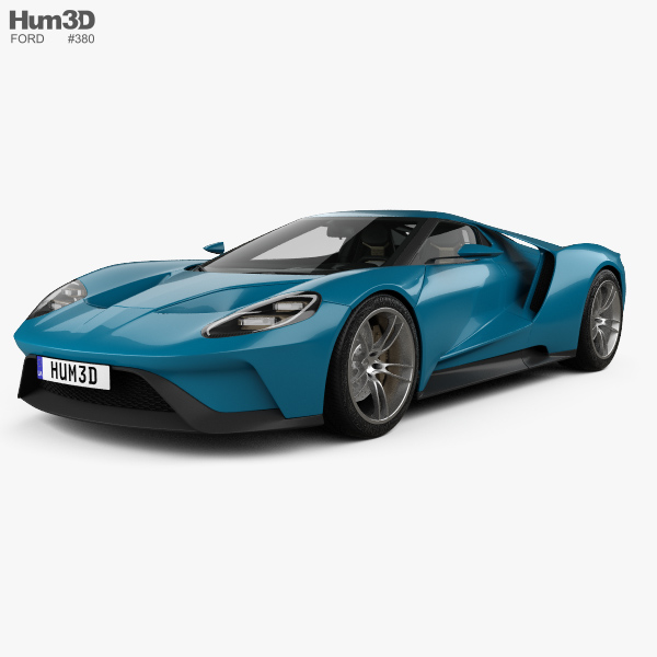 3D model of Ford GT concept with HQ interior 2015