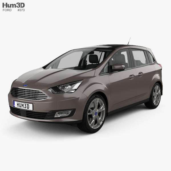3D model of Ford Grand C-max with HQ interior 2015