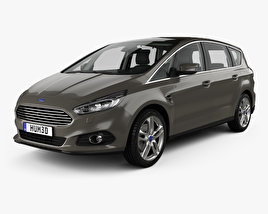 3D model of Ford S-MAX with HQ interior 2015
