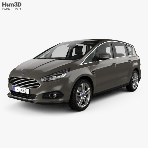 Ford S-MAX with HQ interior 2015 3D model