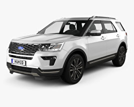 3D model of Ford Explorer (U502) Platinum 2018