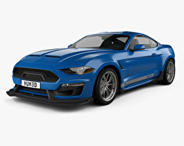 3D model of Ford Mustang Shelby Super Snake coupe 2018