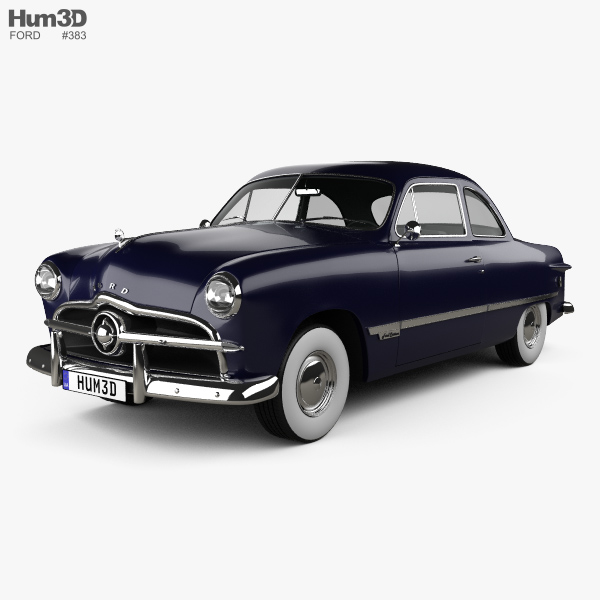 3D model of Ford Custom Club Coupe 1949