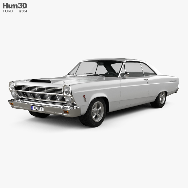 Ford Fairlane 500GT coupe 1966 3D model