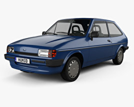 3D model of Ford Fiesta 3-door 1983