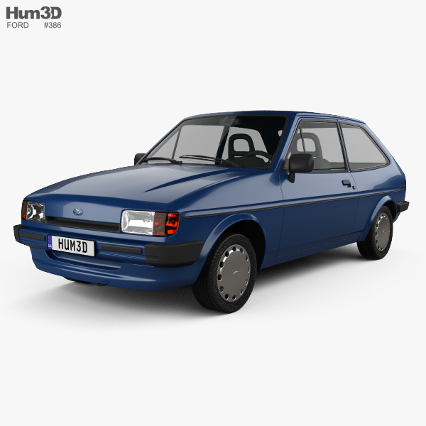 Ford Fiesta 3-door 1983 3D model
