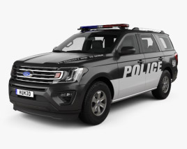 3D model of Ford Expedition Police 2017