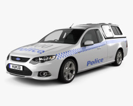 3D model of Ford Falcon UTE XR6 Police 2011