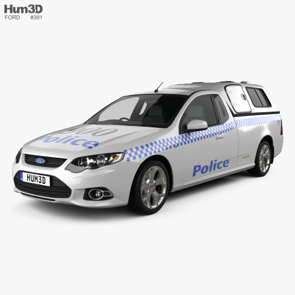 Ford Falcon UTE XR6 Police 2011 3D model