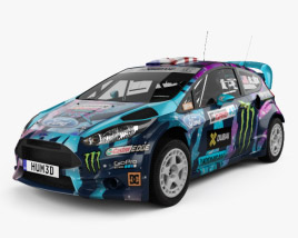 3D model of Ford Fiesta Ken Block 2013