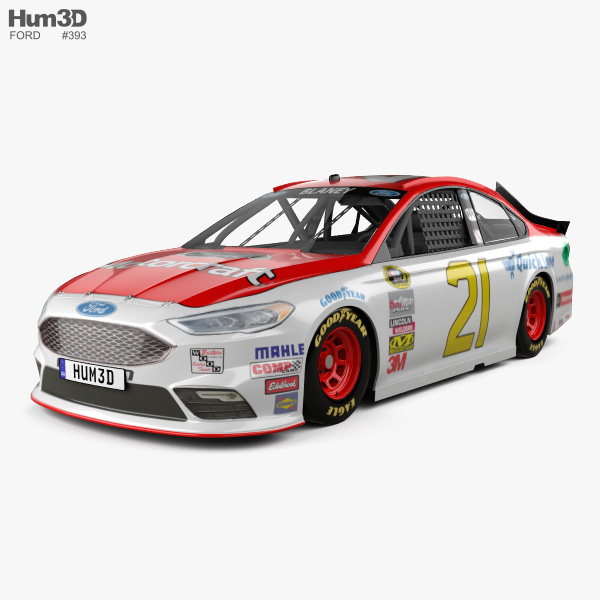 3D model of Ford Fusion NASCAR 2017