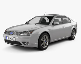 3D model of Ford Mondeo hatchback 2003