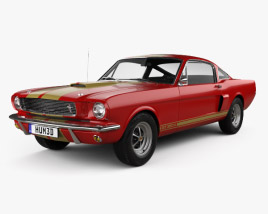 3D model of Ford Mustang 350GT 1969