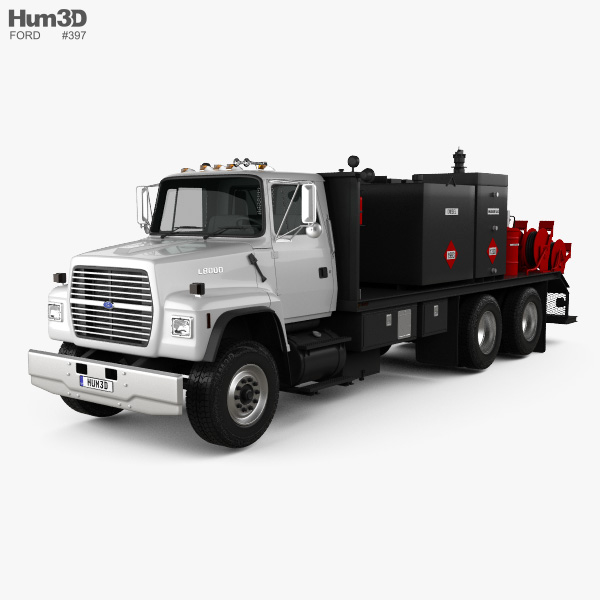 Ford L8000 Fuel and Lube Truck 1996 3D model