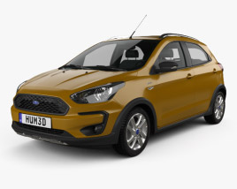 3D model of Ford Ka plus Active Freestyle hatchback 2019