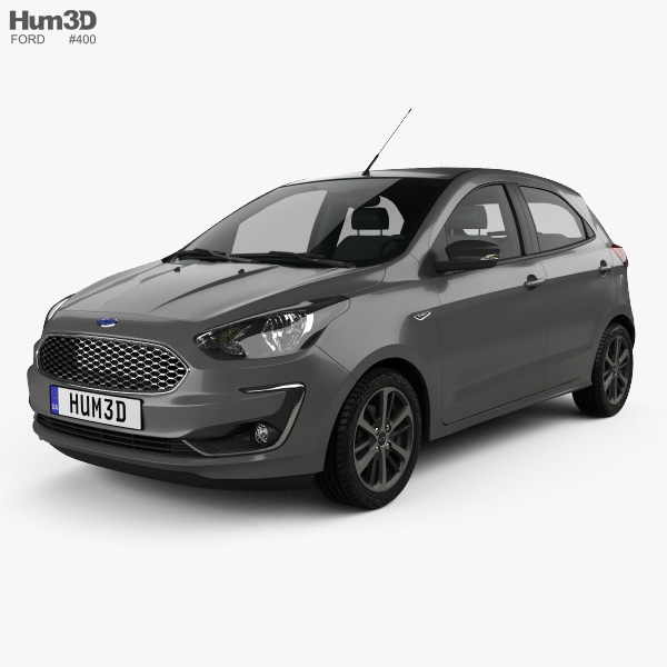 3D model of Ford Ka plus Ultimate hatchback 2019