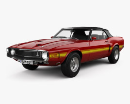 3D model of Ford Mustang Shelby GT500 convertible 1969