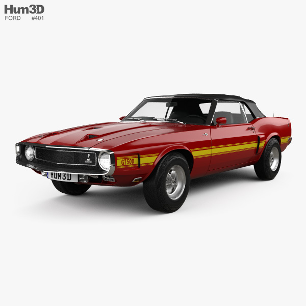 Ford Mustang Shelby GT500 convertible 1969 3D model