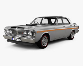 3D model of Ford Falcon GT-HO 1971