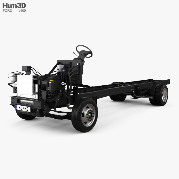 3D model of Ford F59 Bus Chassis L2 2018