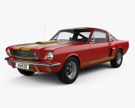 Ford Mustang GT350H Shelby with HQ interior 1966 3D model