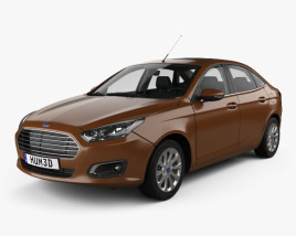 3D model of Ford Escort with HQ interior 2014